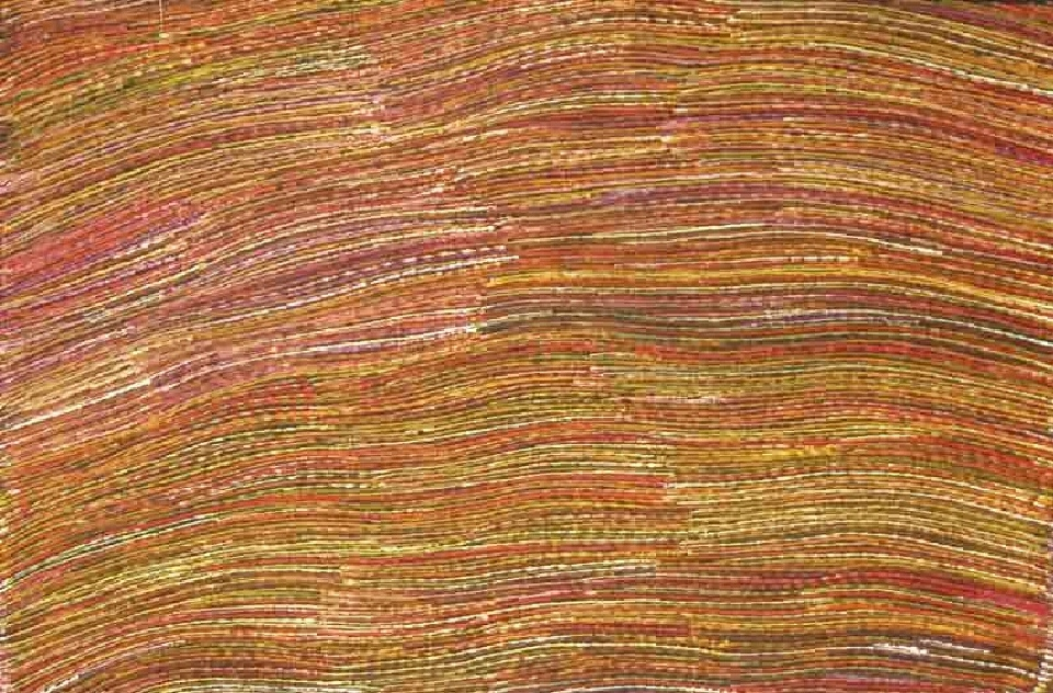 Yam Root Dreaming - APPT132 by Anna Price Petyarre