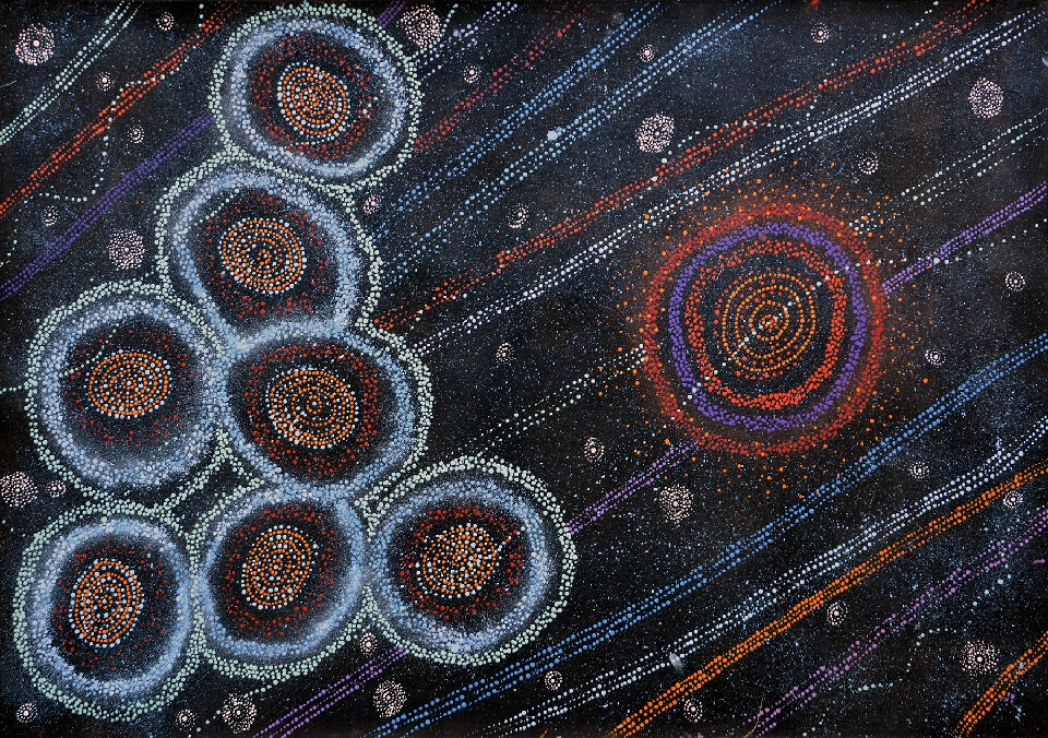 Yanjirlpirri or Napalijarri-Warnu Jukurrpa (Star or Seven Sisters Dreaming) - ATGWU2911/18