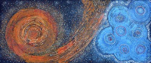 Yanjirlpirri or Napaljarri - Warnu Jukurrpa (Star or Seven Sisters Dreaming) - ATGWU2400/18ny