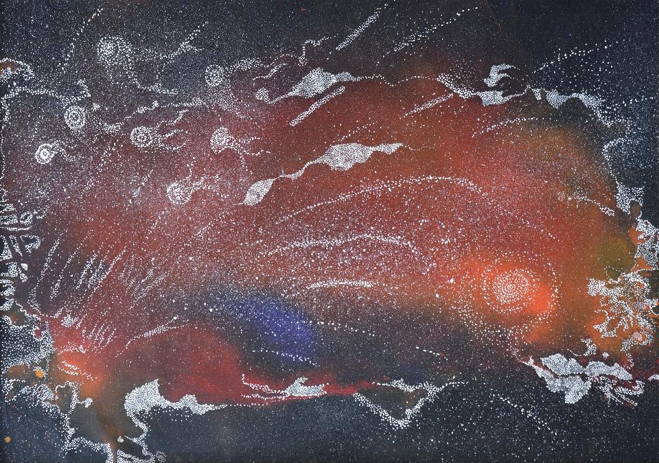 Yanjirlpirri or Napaljarri-Warnu Jukurrpa (Star or Seven Sisters Dreaming) - ATGWU5/19 by Athena Nangala Granites