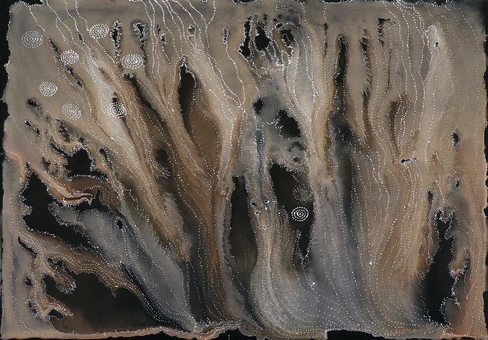 Napaljarri - warnu Jukurrpa (Seven Sisters Dreaming) - ATGWU1575/21 by Athena Nangala Granites