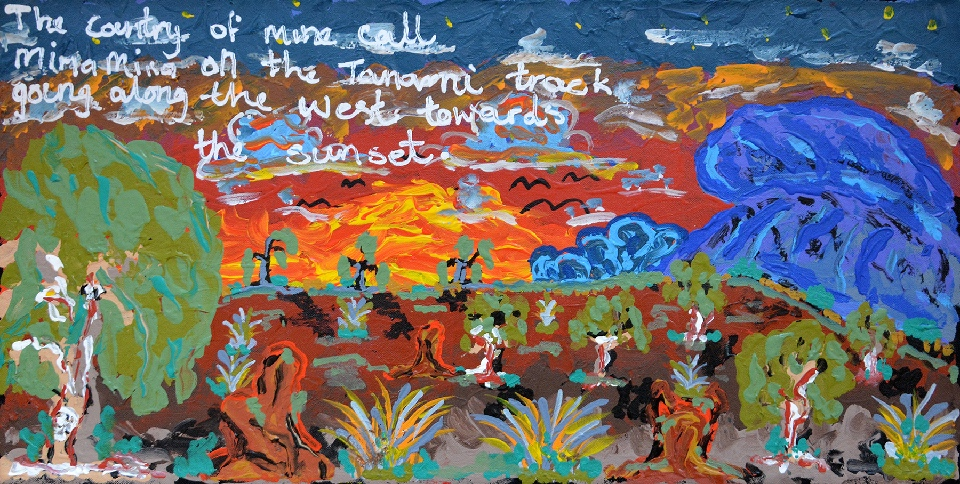 Nguru Yurntumu-wana (Country around Yuendumu) - CHGWU5042/17 by Cherylyn Napangardi Granites