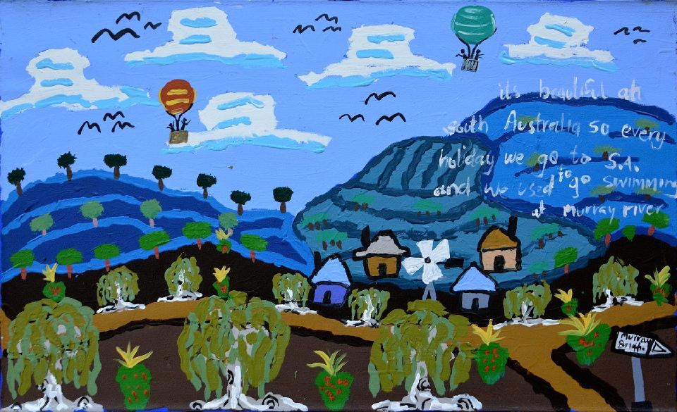 Nguru Yurntumu-wana (Country around Yuendumu) - CHGWU5100/17 by Cherylyn Napangardi Granites