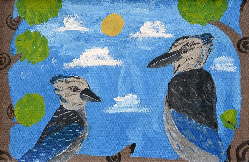 Jurlpu Kuja Kalu Nyinami Yurntumu-wana (Birds that live around Yuendumu) - CHGWU3300/18