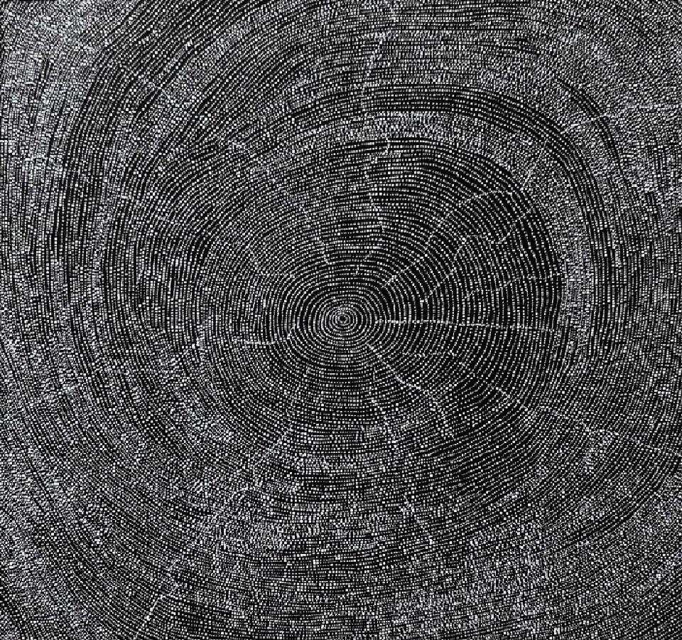 Rockholes at Mina Mina - DORG0042 by Dorothy Napangardi