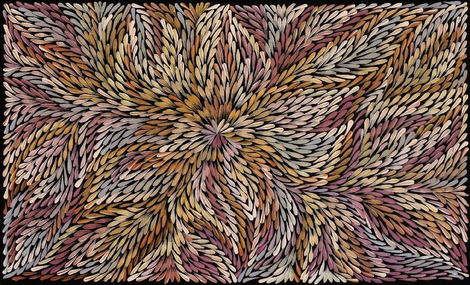 Bush Yam Leaves - DLPG0234 by Dulcie Long Pula