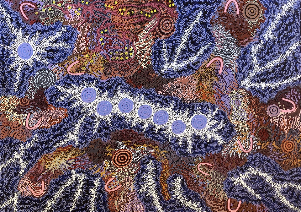 Grandmother's Country and Seven Sisters Dreaming - GPNU211959 by Gabriella Possum Nungurrayi
