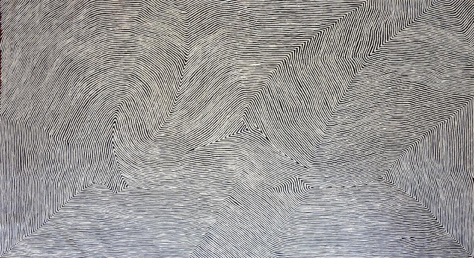 Tingari - GHTG0015 by George Hairbrush Tjungurrayi