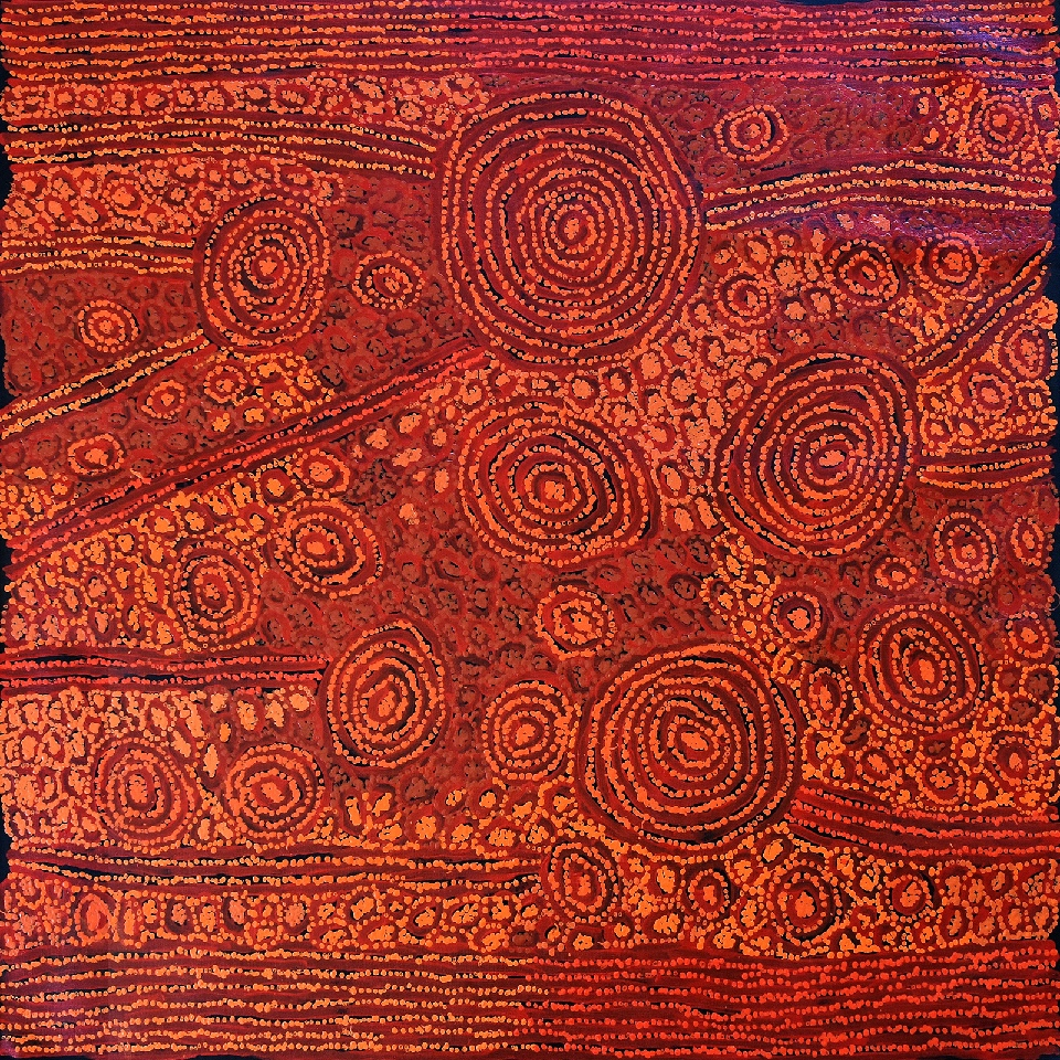 Tingari - Karrkurritintja (Lake MacDonald) - GWTG0156 by George Ward Tjungurrayi