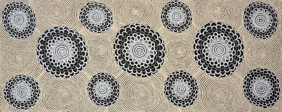 Bush Onion Dreaming - GTUYU780 by Gwenda Turner Nungurrayi