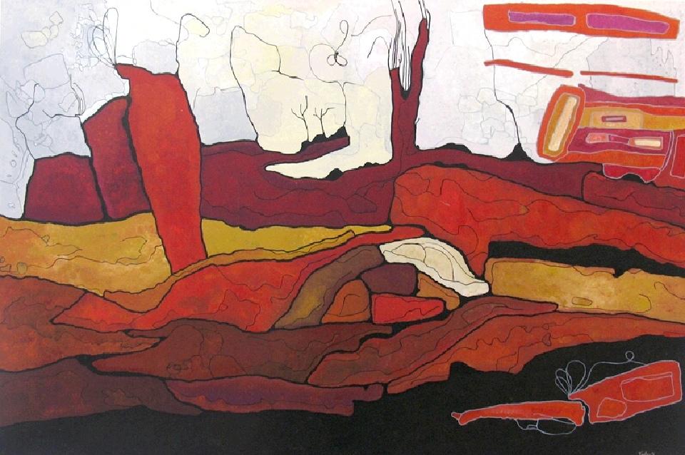 Marrawuk (The Dry Season) - HMCG0045 by Helen McCarthy Tyalmuty