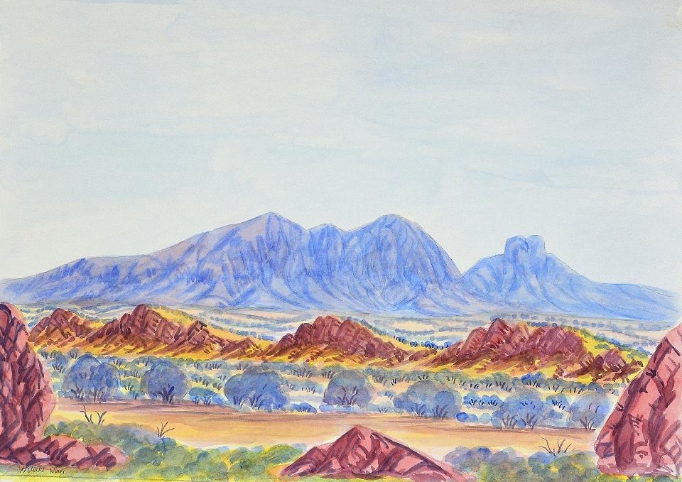 Mt Sonder - HWIG0001 by Hilary Wirri Japaltjarri