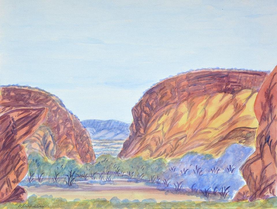 Jessie Gap, Eastern McDonnells - HWIG0008 by Hilary Wirri Japaltjarri