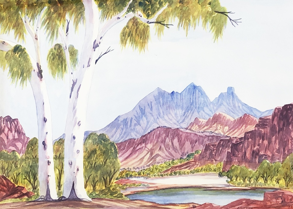 Mt Sonder - HWIG0011 by Hilary Wirri Japaltjarri