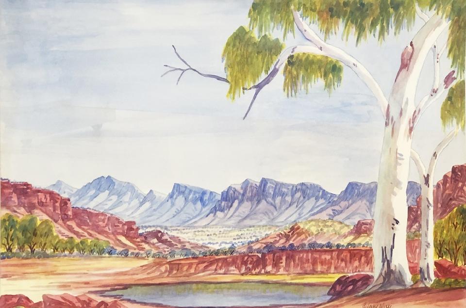 Western McDonnell Ranges - HWIG0012 by Hilary Wirri Japaltjarri