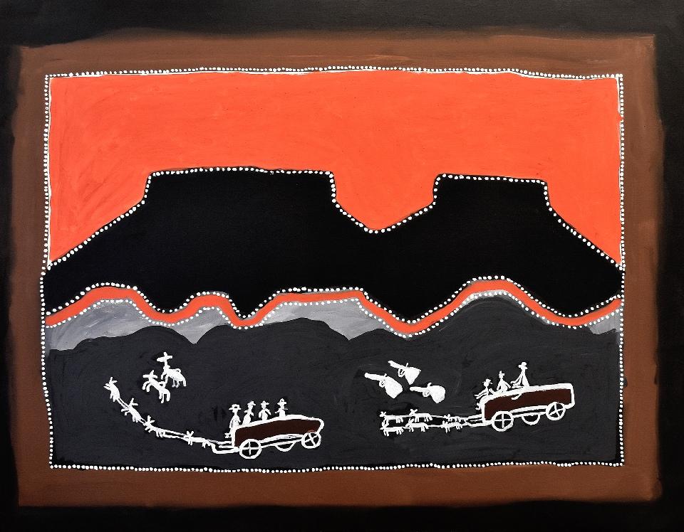 King Leopold Ranges - Donkey Wagons - JDAHF1318 by Jack Dale