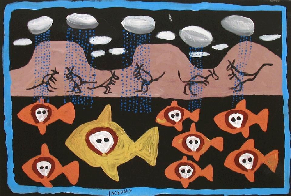 Gulingi Fish Wandjinas - JDAMN006 by Jack Dale