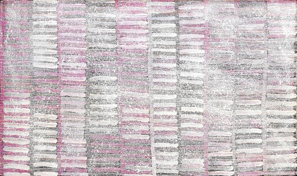 Bush Yam - JSNDD30425 by Janelle Stockman Napaltjarri