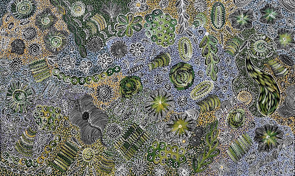 My Country - Awelye - JGKFD71/0121 by Janet Golder Kngwarreye