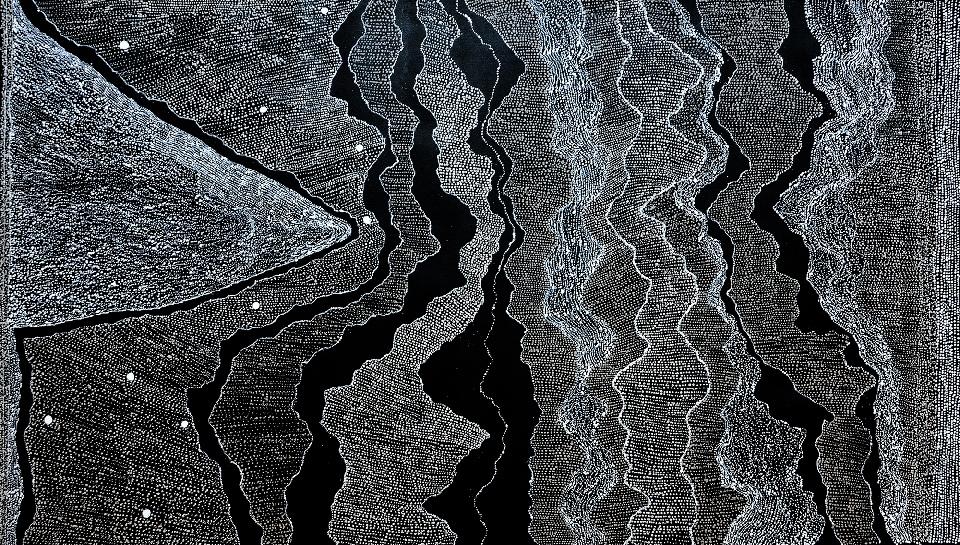 Ngapa Jukurrpa (Water Dreaming) - Pirlinyarnu - JNAWU1831/17