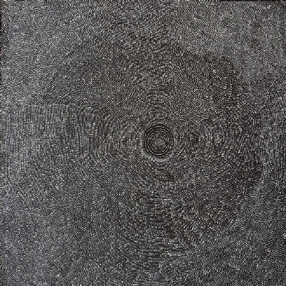 Rockhole in Mina Mina - JNAWA071113 by Julie Nangala Robertson