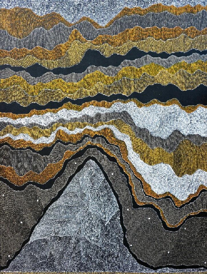 Ngapa Jukurrpa (Water Dreaming) - JNAWU2917/14 by Julie Nangala Robertson
