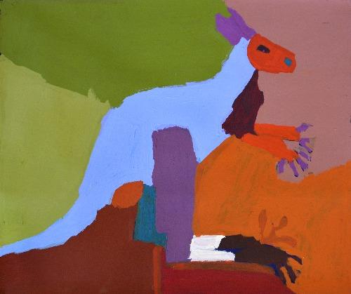 Marlu Jukurrpa (Red Kangaroo Dreaming) Yarnardilyi and Jurnti - KNBWU2042/19