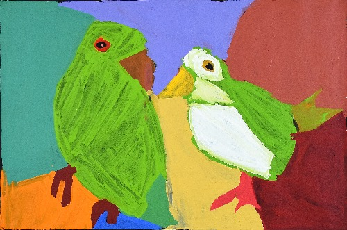 Jurlu Kuja Kalu Nyinami Yurntumu - wana (Birds that Live Around Yuendumu) - KNBWU29/21