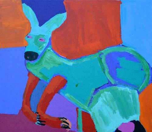 Marlu Jukurrpa (Red Kangaroo Dreaming) Yarnardilyi and Jurnti - KNBWU5586/17A