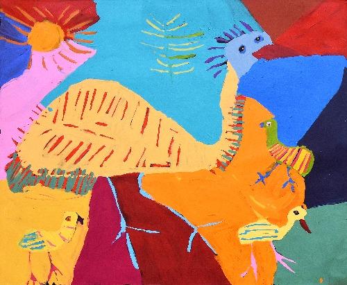 Jurlpu Kuja Kalu Nyinami Yurntumu-wana (Birds that Live Around Yuendumu) - KNBWU485/21