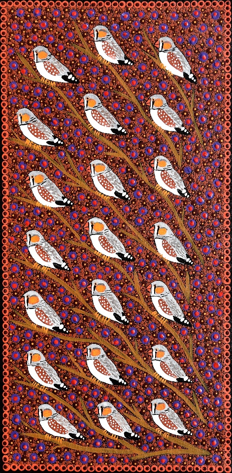 Zebra Finches - KBZG0578 by Kathleen Buzzacott
