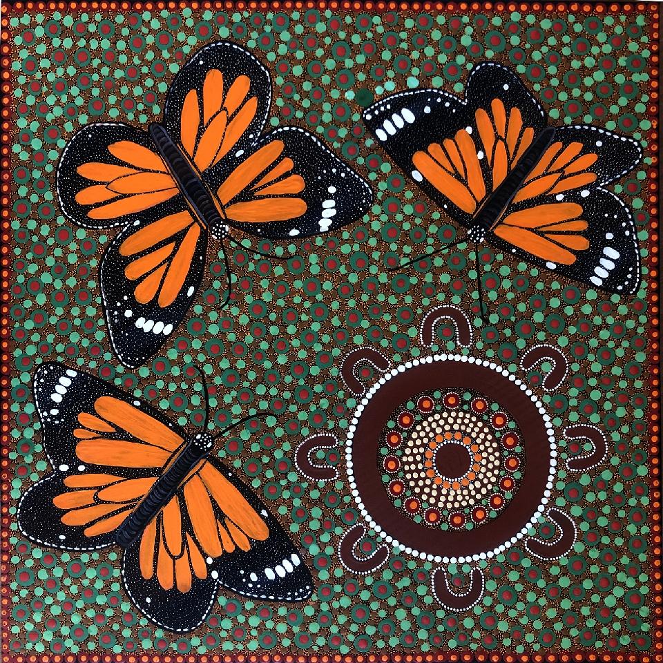 Children Catching Butterflies in Springtime - KBZG0598 by Kathleen Buzzacott