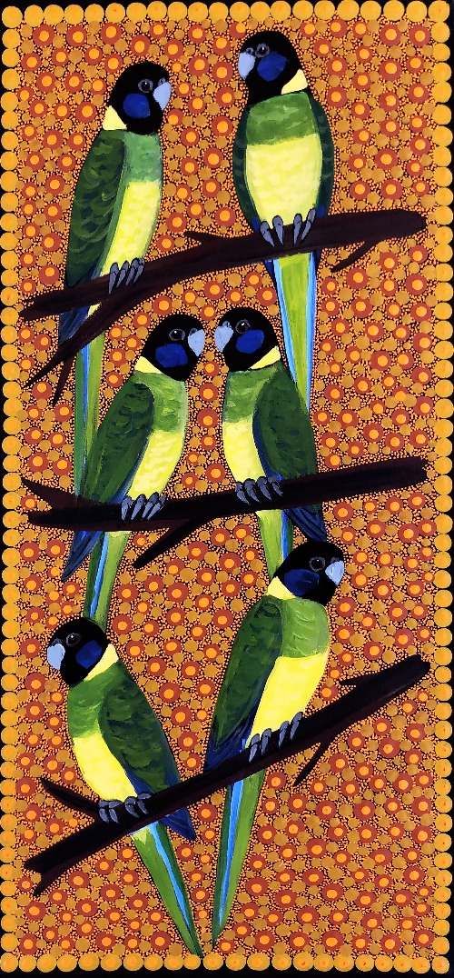 Ring Neck Parrots - KBZG0614