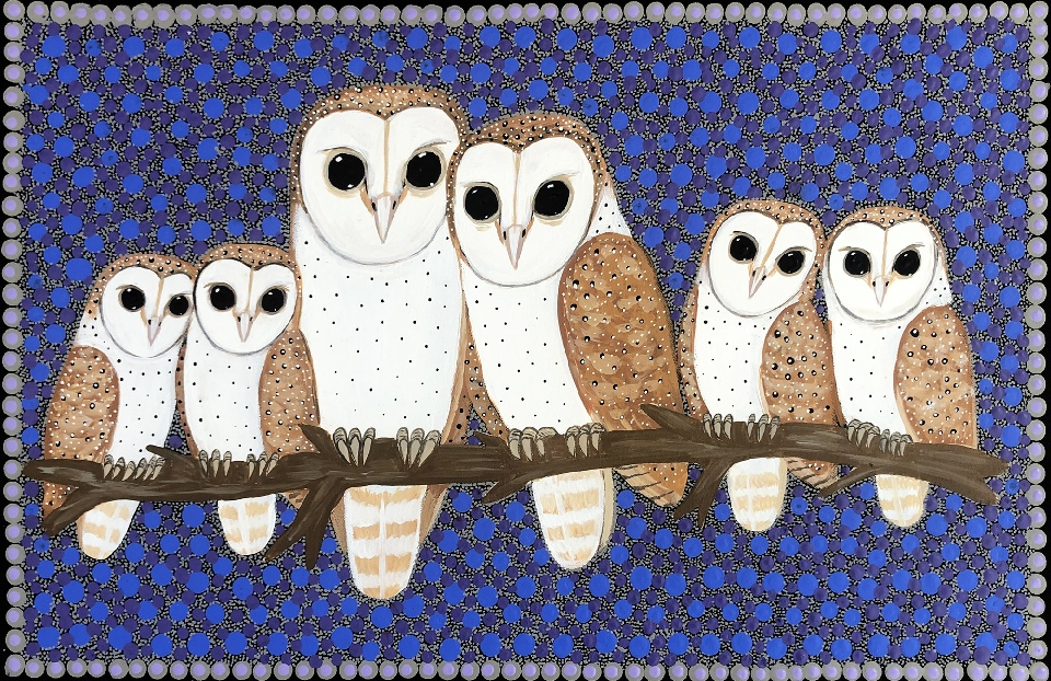 Barn Owls - KBZG0663 by Kathleen Buzzacott