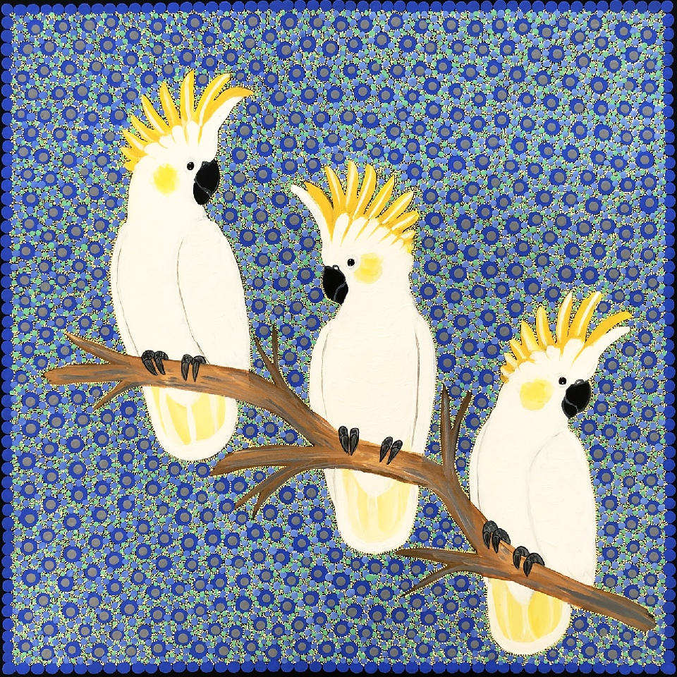 Sulphur Crested Cockatoos - KBZG0647  by Kathleen Buzzacott