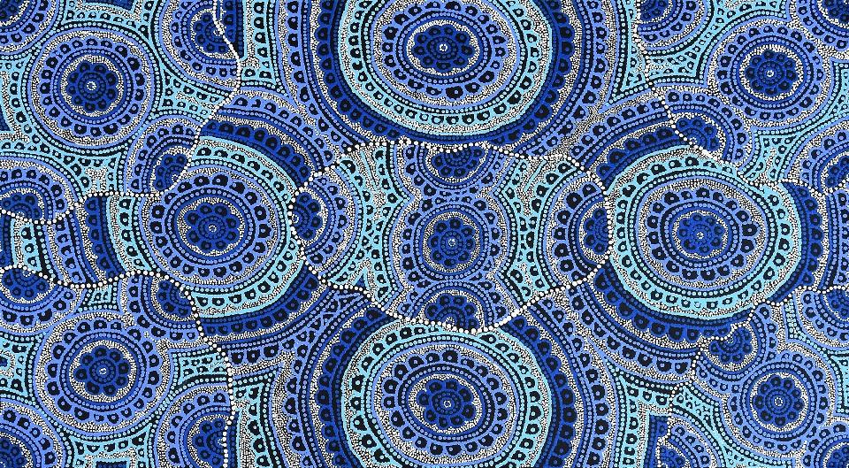 Ngalyipi Jukurrpa (Snakevine Dreaming) - Mina Mina - KNTWU2467/20ny by Kirsty Anne Napanangka Martin