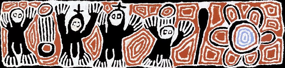 Three Wise Men - LSYMG1555 by Linda Syddick Napaltjarri