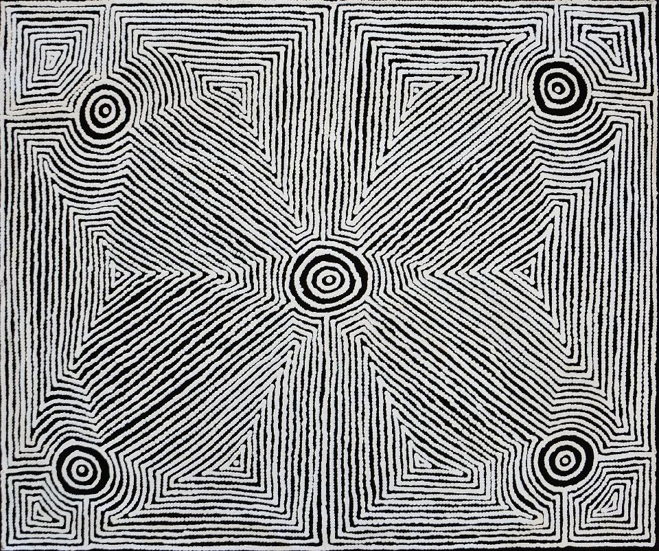Watiyawarnu Jukurrpa (Seed Dreaming) - MJRWU4458/19 by Marshall Jangala Robertson