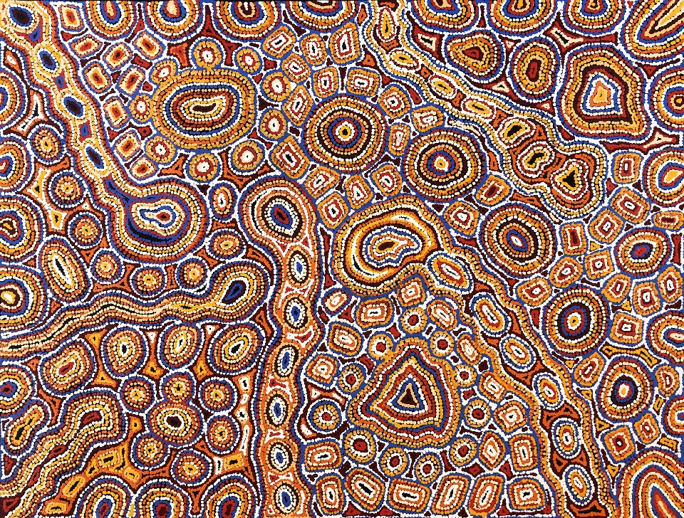 Seven Sisters Dreaming - MNKG0003 by Michelle Butler Nakamarra