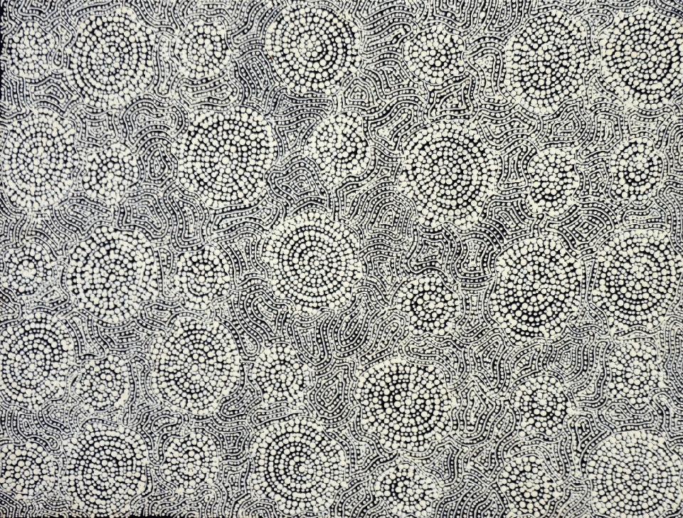 Warlukurlangu Jukurrpa (Fire Country Dreaming) - NHNWU69/20 by Nathania Nangala Granites