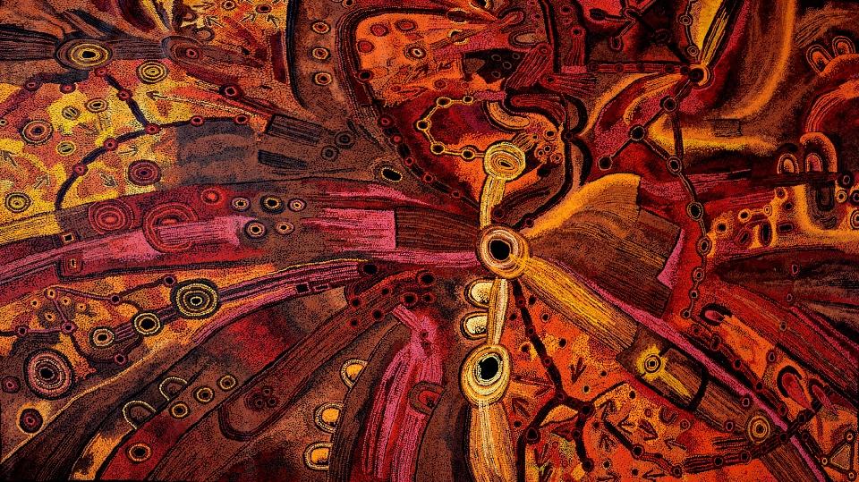 Minma Marlilu Tjukurrpa - PTBG0133 by Patricia and Teresa Baker