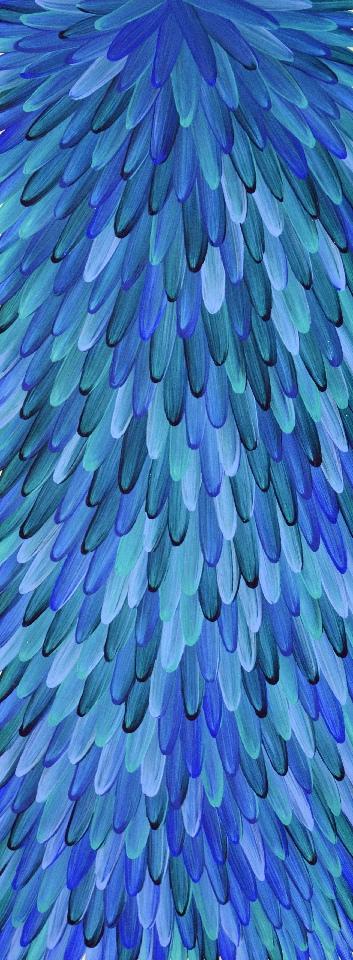 Emu Feathers - RWJG0054 by Raymond Walters Penangke