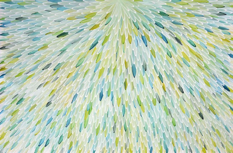 Emu Feathers - RWJG0056 by Raymond Walters Penangke