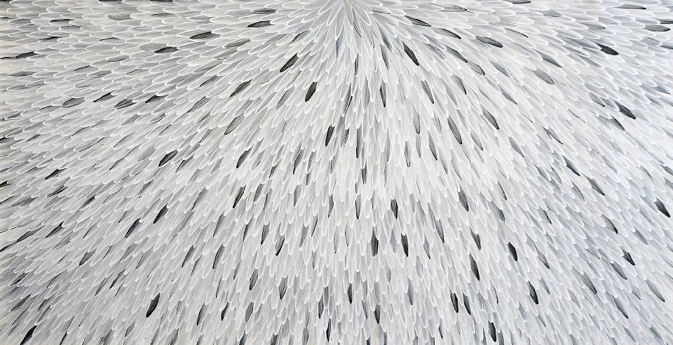 Emu Feathers - RWJG0075 by Raymond Walters Penangke