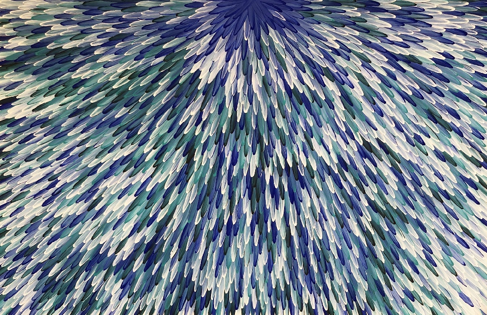 Emu Feathers - RWJG0083 by Raymond Walters Penangke