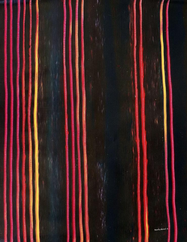 Hunting Bush Tracks Home - RNALR21-44 by Rosella Namok