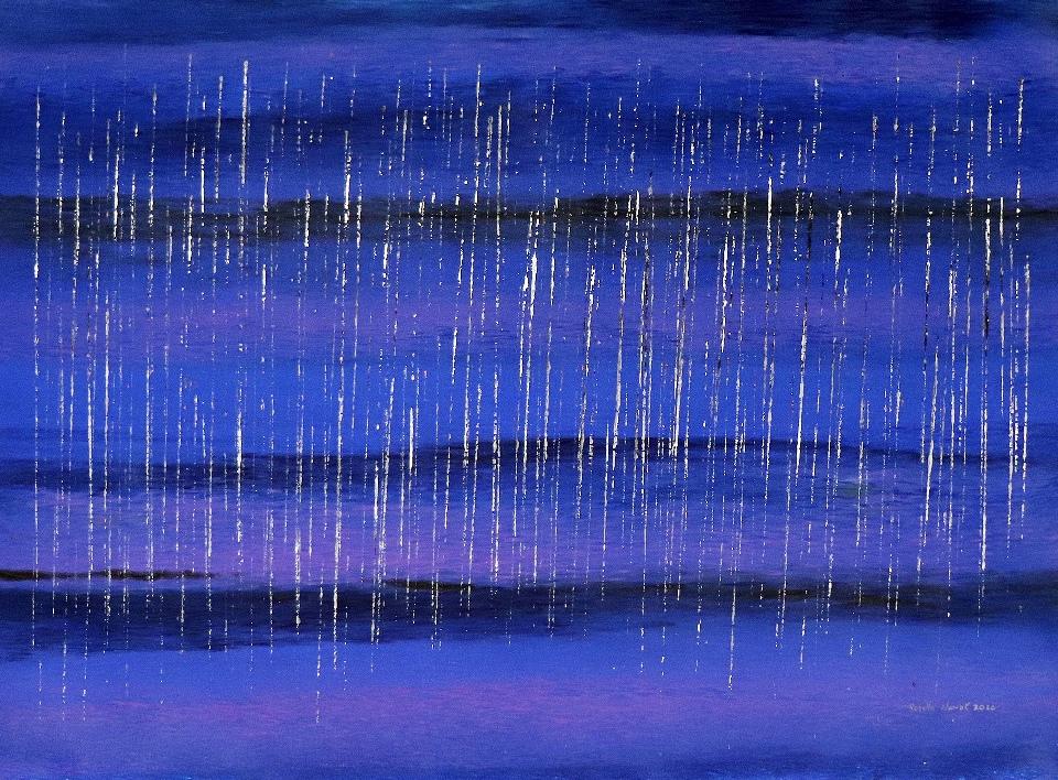Holiday Stinging Rain Splash Down - RNALR20-112 by Rosella Namok