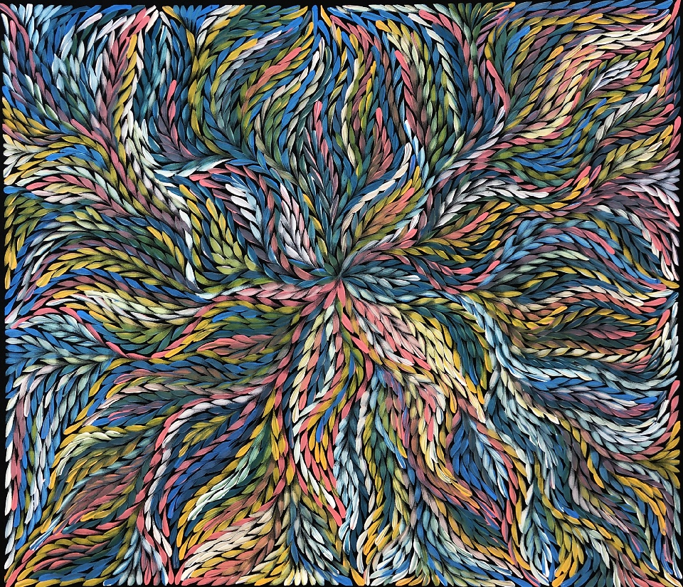 Bush Yam Leaves - RPEG0440 by Rosemary Petyarre