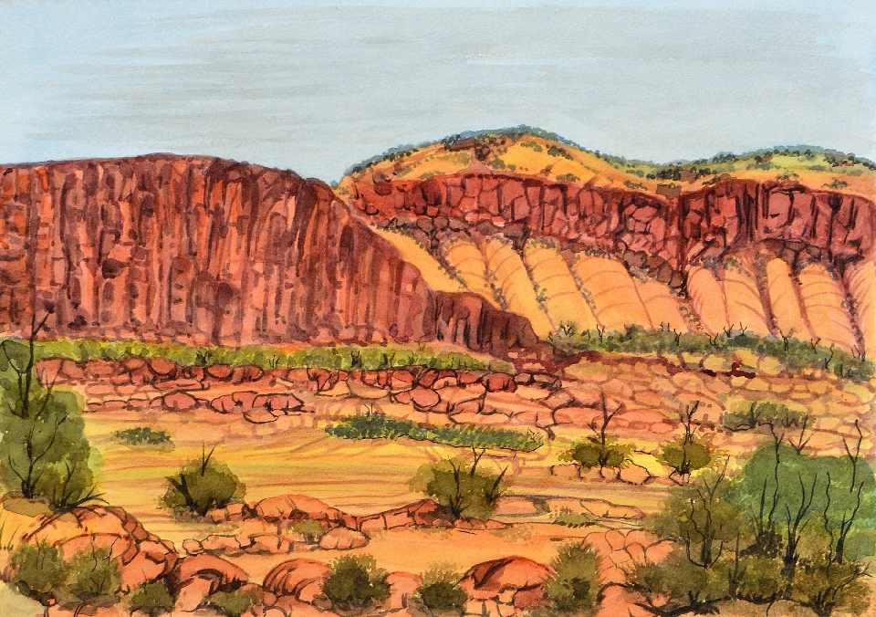 On the Way to Palm Valley - SCOG0166 by Selma (Nunay) Coulthard Nakamarra