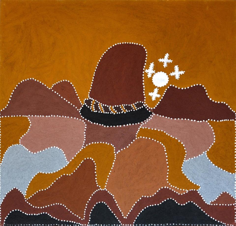 Moonrise Over Goora Goora - N-2216-SP by Shirley Purdie